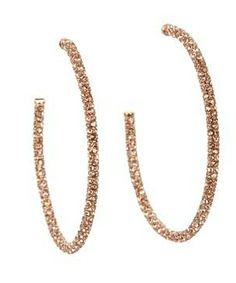Juicy Couture Large Pave Hoop Earrings #accessories  #jewelry  #earrings  https://www.heeyy.com/suggests/juicy-couture-large-pave-hoop-earrings-rose-gold/