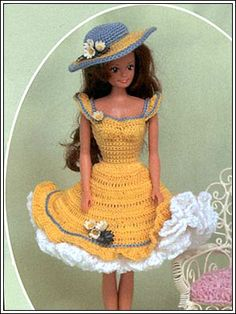 Barbie Crochet: Yellow Summer Dress, pattern