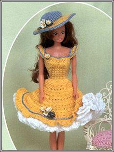 Barbie Crochet: Yellow Summer Dress, pattern