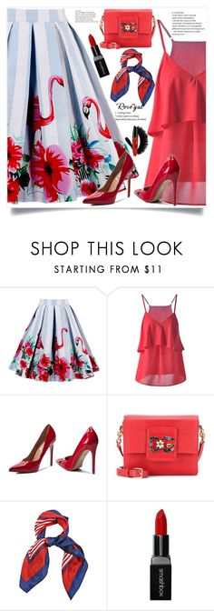 """Animal Floral Print Skirt *57"" by zenabezimena ❤ liked on Polyvore featuring Steve Madden, Dolce&Gabbana, Smashbox, Summer and rosegal"