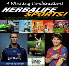 Yes we sponser Beckham :) and #1 soccer player Messi! They don't just wear the brand they take it too!