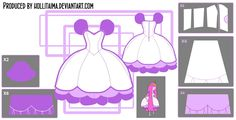 Princess Bubblegum Lilac Puff Cosplay Design Draft by Hollitaima.deviantart.com on @deviantART                               Pattern