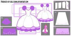 Princess Bubblegum Lilac Puff Cosplay Design Draft by Hollitaima.deviantart.com on @deviantART Pattern