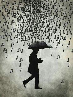 Pluie de notes de musique