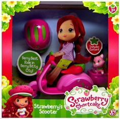 Strawberry Shortcake's Scooter Toy New in Box!! Includes Pet Custard!! BNIB  #AmericanGreetings #DollswithClothingAccessories