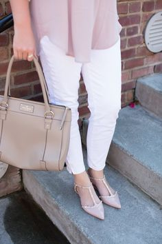 Fashion Rules You Should Be Breaking -White After Labor Day - Halogen blush flats