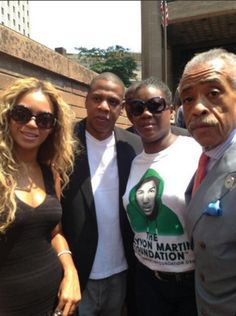 Jay-Z and Beyonce trayvon martin rally