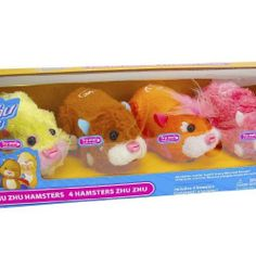 Zhu Zhu Pets Special Collector Pack of 4 Hamsters by Cepia. $33.05. This special collector 4 pack of ZhuZhu Pets' interactive and realistic hamsters are funny and furry without the mess! Pet them, love them, hear them squeak and chatter. Let them scoot, scamper, bump and boogie across the floor. Simply pet your hamster's back, set 'em down, and watch it Zhu Zhu Zhu-oom! Plus, each hamster has its own unique personality and over 40 different sound effects depending on the unique...