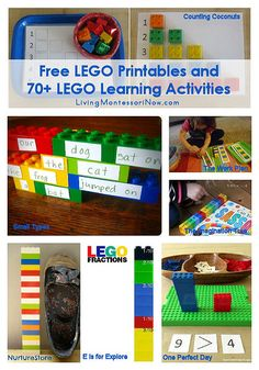 Free LEGO Printables and 70+ LEGO Learning Activities (Many activities in the roundup are math activities.)