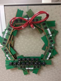 Information Technology (IT) way of celebrating Christmas. Maybe Jon will let me put this in his computer room...