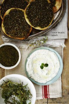 Zaatar Bread & Labneh.  The BEST breakfast in the world.