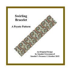 Beading Pattern, Art Deco Style Bracelet. Email PDF File Tutorial   SmadarsTreasure - Patterns on ArtFire