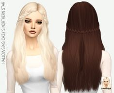 Miss Paraply: Cazy`s Northern Star hairstyle retextured • Sims 4 Downloads