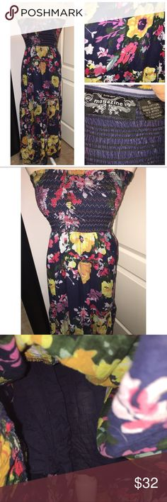 Magazine Floral Strapless Maxi Dress Size small. From my smoke free home magazine  Dresses Maxi