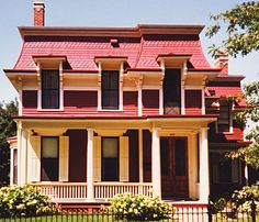 Second Empire Cottage   2 Story Mansard Roof