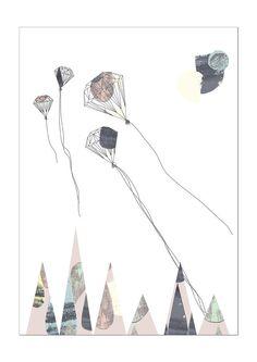 Diamond Drachen  Größe A3 von Spenderbuks auf Etsy, kr150.00