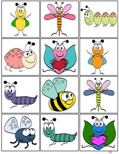 Storytime and more: Insect memory game...hmm, what else to do with these?