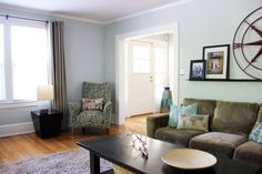"""Dan & Sommer's Work-and-Play Family Home Valspar """"Woodlawn Sterling Blue"""