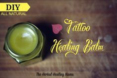 All Natural Tattoo Balm DIY
