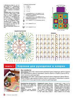 Motifs Granny Square, Granny Square Crochet Pattern, Crochet Squares, Crochet Chart, Crochet Patterns, Granny Squares, Periodic Table, Diagram, Summer Tops