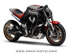 Piston Brew: Krax-Moto, cracks designs MT01 cafe racer