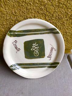 Ceramic plate...Buddhist symbol for journey!