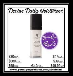 Divine Daily Moisturizer Ihre Haut ist ein Unikat. Unsere Divine Tägliche Feuchtigkeitspflege ist das ebenfalls.