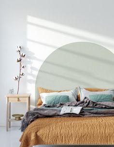 Wallpaper Headboard, Painted Headboard, Room Ideas Bedroom, Bedroom Decor, Headboard Designs, Bedroom Wall Designs, New Room, Room Inspiration, Interior Design