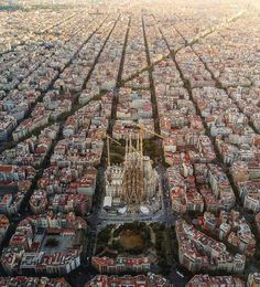 "46.4k Likes, 517 Comments - Daily Overview (@dailyoverview) on Instagram: ""Check out this incredible shot of La Sagrada Familia in Barcelona, Spain. Designed by Catalan…"""