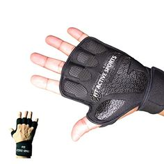 Fit Active Sports Weight Lifting Gloves with Wrist Wraps  Extra Grip  Padding for Crossfit Lifting Gym Workout Cross Training Weightlifting WODs  Fitness Suits Men  Women No Calluses >>> Be sure to check out this awesome product. (Note:Amazon affiliate link)