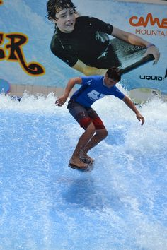Flow Rider surfing fun waits for you at Camelbeach! Ride the waves on boogie board or flowboard as you take on the FlowRider! Late 20th Century, Wakeboarding, Extreme Sports, Snowboarding, Skateboard, Flow, Surfing, Waves, Tours