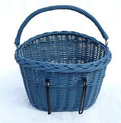 Blue Wicker Fahrrad Korb Fahrrad Korb Frühling von WickerMarket