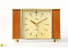 mid century junghans germany desk clock mid century modern danish