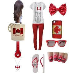 """Canada day outfit"" by jenna-bo-benna on Polyvore"