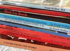 Here are all nine of my books stacked. Please feel free to check out a preview of each book @  http://www.blurb.com/user/store/frankjwalker  walkertherapy.wordpress.com
