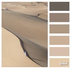 Désert de sable Nature Color Palette, Colour Pallete, Colour Schemes, Color Combos, Home Wall Colour, Exterior Door Colors, House Color Palettes, Monochromatic Art, Color Scale