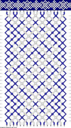 Muster # 92449, Streicher: 18 Zeilen: 32 Farben: 2