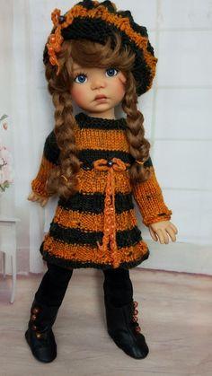 Knit dress set for MY Meadow Dolls Dress Set, Hello Dolly, Little Darlings, Dumplings, Vintage Dolls, Blythe Dolls, Beautiful Dolls, Natural Makeup, Bjd