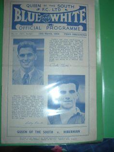 Queen of the South v Hibernian March 1952 Championship season