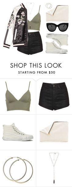 """""""This bomber tho"""" by baludna on Polyvore featuring Topshop, Vans, Clare V. and Natalie B"""