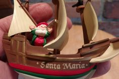 Ship Ornament Santa on a ship ornament Santa Maria