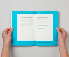 Methodist Church's Ministerial Development Review with bright fluorescent blue cover designed by Maddison Graphic.