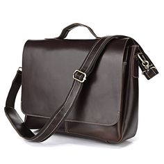 Brun Denim Detail Lædertaske - 1.595,00kr