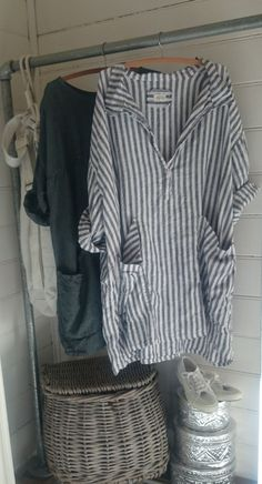 Navy and White Striped Linen Dress/Tunic MegbyDesign: