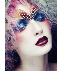 #makeup #feathers #insp