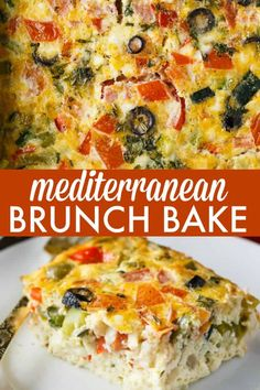 Mediterranean Brunch Bake Mediterranean Brunch Bake Save yourself time and do all the prep the night before. Youll love how much flavour is packed into this holiday breakfast/brunch recipe! Source by mysweetmission Vegetarian Breakfast, Healthy Breakfast Recipes, Vegetarian Recipes, Cooking Recipes, Healthy Recipes, Vegetarian Sandwiches, Cooking Pork, Going Vegetarian, Vegetarian Dinners