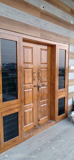 Single Door Design, Wooden Front Door Design, Main Entrance Door Design, Double Door Design, Entrance Doors, Front Doors, Pooja Room Door Design, House Gate Design, Door Design Interior