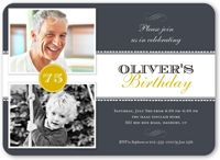 Shutterfly offers surprise birthday invitations in festive designs and colors. Create custom adult birthday invitations to send to family and friends.