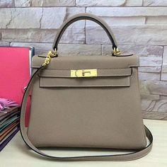 2a3d5d2d8f25 Hermes Kelly 28 Grey Togo Leather Bag  Hermeshandbags