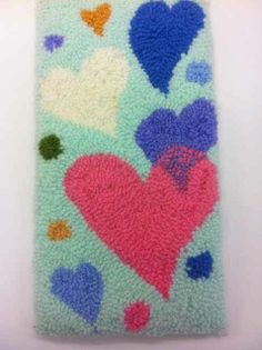 Heart wall hanging from yarn